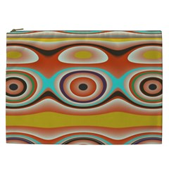 Oval Circle Patterns Cosmetic Bag (xxl)