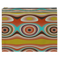 Oval Circle Patterns Cosmetic Bag (XXXL)