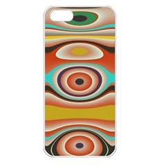 Oval Circle Patterns Apple Iphone 5 Seamless Case (white)