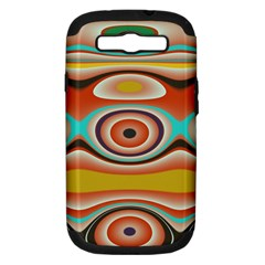 Oval Circle Patterns Samsung Galaxy S III Hardshell Case (PC+Silicone)