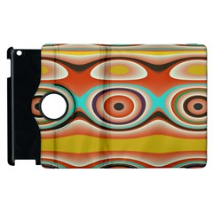Oval Circle Patterns Apple iPad 3/4 Flip 360 Case