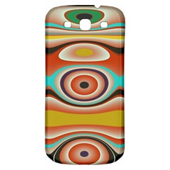 Oval Circle Patterns Samsung Galaxy S3 S III Classic Hardshell Back Case