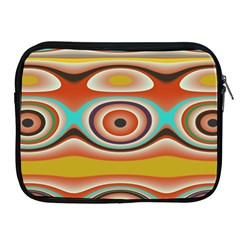 Oval Circle Patterns Apple Ipad 2/3/4 Zipper Cases
