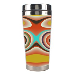 Oval Circle Patterns Stainless Steel Travel Tumblers