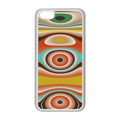 Oval Circle Patterns Apple iPhone 5C Seamless Case (White)