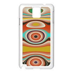Oval Circle Patterns Samsung Galaxy Note 3 N9005 Case (White)