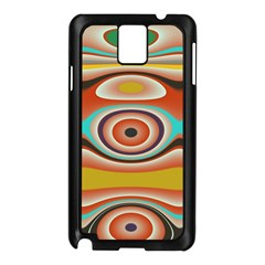 Oval Circle Patterns Samsung Galaxy Note 3 N9005 Case (Black)