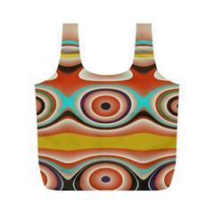 Oval Circle Patterns Full Print Recycle Bags (M)