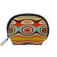 Oval Circle Patterns Accessory Pouches (Small)