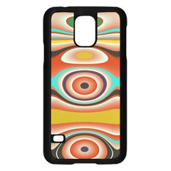 Oval Circle Patterns Samsung Galaxy S5 Case (Black)
