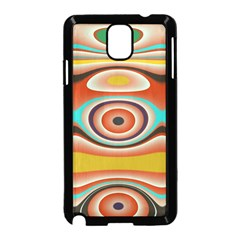 Oval Circle Patterns Samsung Galaxy Note 3 Neo Hardshell Case (Black)