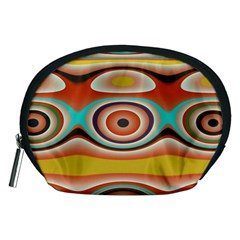 Oval Circle Patterns Accessory Pouches (Medium)