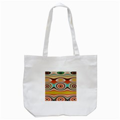 Oval Circle Patterns Tote Bag (White)