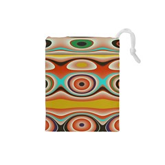 Oval Circle Patterns Drawstring Pouches (small)