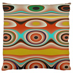 Oval Circle Patterns Large Flano Cushion Case (Two Sides)