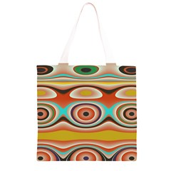 Oval Circle Patterns Grocery Light Tote Bag