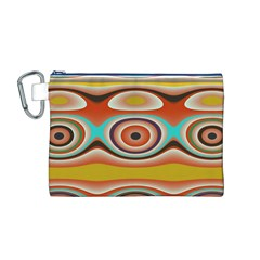 Oval Circle Patterns Canvas Cosmetic Bag (M)