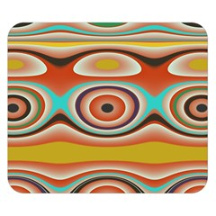 Oval Circle Patterns Double Sided Flano Blanket (Small)