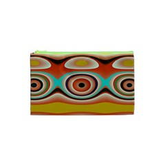 Oval Circle Patterns Cosmetic Bag (xs)