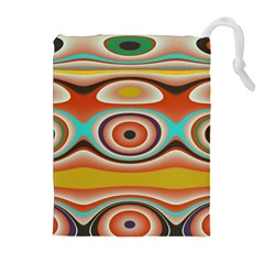 Oval Circle Patterns Drawstring Pouches (extra Large)