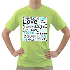 Love pattern - cyan Green T-Shirt