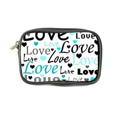 Love pattern - cyan Coin Purse