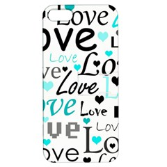 Love pattern - cyan Apple iPhone 5 Hardshell Case with Stand