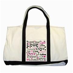 Love pattern - magenta Two Tone Tote Bag