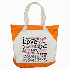 Love Pattern   Magenta Accent Tote Bag
