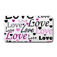 Love pattern - magenta Medium Bar Mats