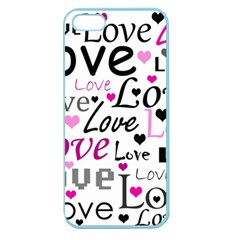 Love pattern - magenta Apple Seamless iPhone 5 Case (Color)