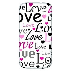 Love pattern - magenta Samsung Galaxy S3 S III Classic Hardshell Back Case
