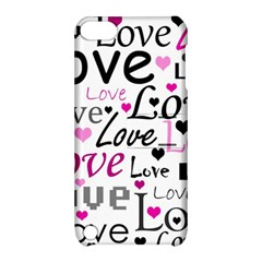 Love pattern - magenta Apple iPod Touch 5 Hardshell Case with Stand