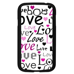 Love pattern - magenta Samsung Galaxy Grand DUOS I9082 Case (Black)