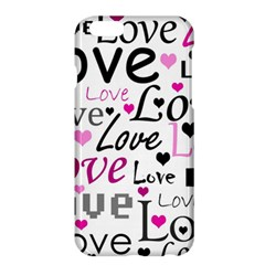 Love pattern - magenta Apple iPhone 6 Plus/6S Plus Hardshell Case