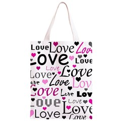 Love pattern - magenta Classic Light Tote Bag