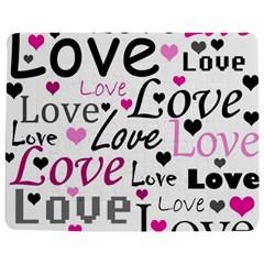 Love pattern - magenta Jigsaw Puzzle Photo Stand (Rectangular)
