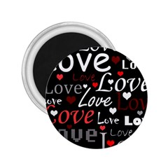 Red Love pattern 2.25  Magnets