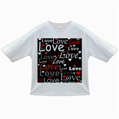Red Love pattern Infant/Toddler T-Shirts