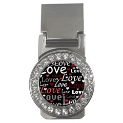 Red Love pattern Money Clips (CZ)