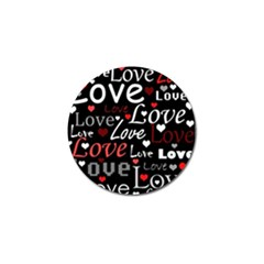 Red Love pattern Golf Ball Marker (4 pack)