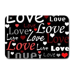 Red Love pattern Plate Mats