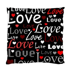 Red Love pattern Standard Cushion Case (One Side)