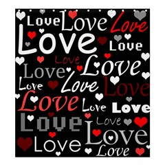 Red Love pattern Shower Curtain 66  x 72  (Large)