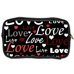 Red Love pattern Toiletries Bags