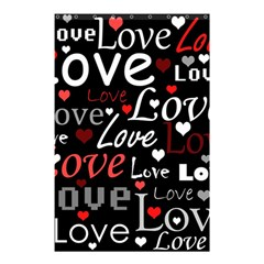 Red Love pattern Shower Curtain 48  x 72  (Small)