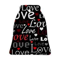 Red Love pattern Ornament (Bell)