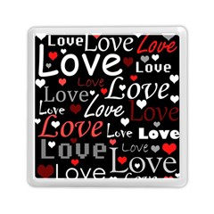 Red Love pattern Memory Card Reader (Square)