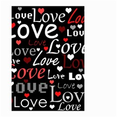Red Love pattern Small Garden Flag (Two Sides)