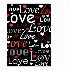 Red Love pattern Large Garden Flag (Two Sides)